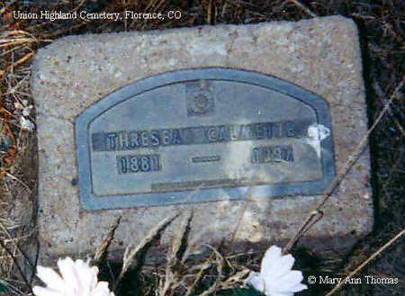 CALMETTE, THRESEA - Fremont County, Colorado | THRESEA CALMETTE - Colorado Gravestone Photos