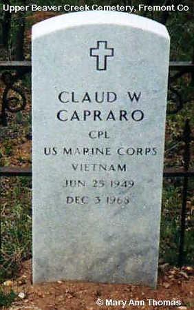 CAPRARO, CLAUD W. - Fremont County, Colorado   CLAUD W. CAPRARO - Colorado Gravestone Photos