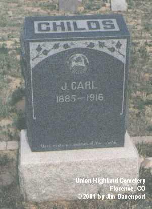 CHILDS, J. CARL - Fremont County, Colorado | J. CARL CHILDS - Colorado Gravestone Photos