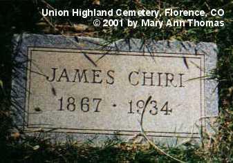 CHIRI, JAMES - Fremont County, Colorado | JAMES CHIRI - Colorado Gravestone Photos