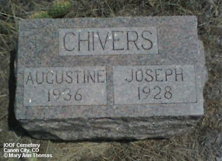 CHIVERS, AUGUSTINE - Fremont County, Colorado | AUGUSTINE CHIVERS - Colorado Gravestone Photos