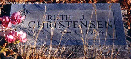 CHRISTENSEN, RUTH J. - Fremont County, Colorado | RUTH J. CHRISTENSEN - Colorado Gravestone Photos