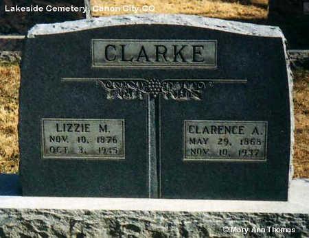 CLARKE, CLARENCE A. - Fremont County, Colorado | CLARENCE A. CLARKE - Colorado Gravestone Photos