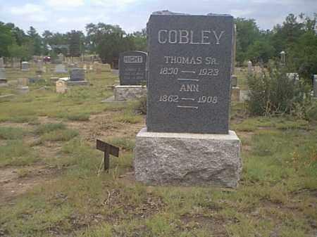 COBLEY, ANNIE - Fremont County, Colorado | ANNIE COBLEY - Colorado Gravestone Photos
