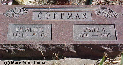 COFFMAN, LESTER W. - Fremont County, Colorado | LESTER W. COFFMAN - Colorado Gravestone Photos