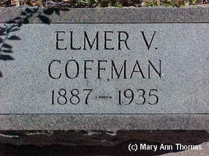 COFFMAN, ELMER V. - Fremont County, Colorado | ELMER V. COFFMAN - Colorado Gravestone Photos