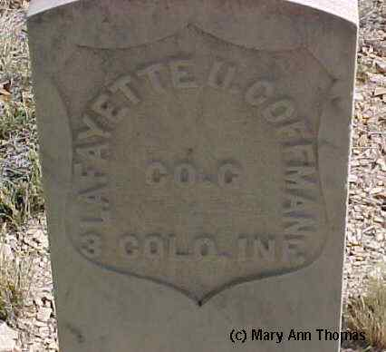 COFFMAN, LAFAYETTE U. - Fremont County, Colorado | LAFAYETTE U. COFFMAN - Colorado Gravestone Photos
