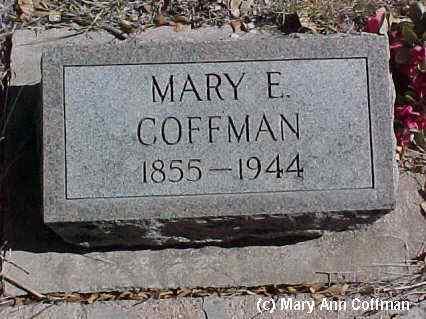 COFFMAN, MARY E. - Fremont County, Colorado   MARY E. COFFMAN - Colorado Gravestone Photos