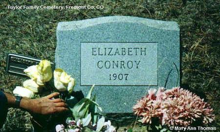 CONROY, ELIZABETH - Fremont County, Colorado   ELIZABETH CONROY - Colorado Gravestone Photos
