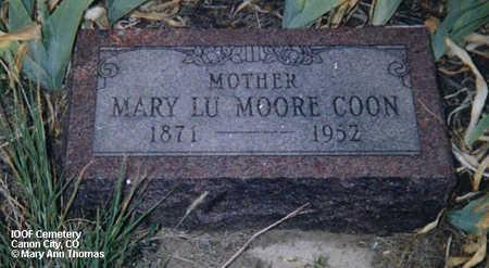 COON, MARY LU MOORE - Fremont County, Colorado   MARY LU MOORE COON - Colorado Gravestone Photos