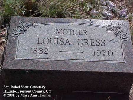 CRESS, LOUISA - Fremont County, Colorado | LOUISA CRESS - Colorado Gravestone Photos