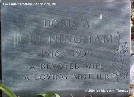 CUNNINGHAM, DORIS A. - Fremont County, Colorado | DORIS A. CUNNINGHAM - Colorado Gravestone Photos