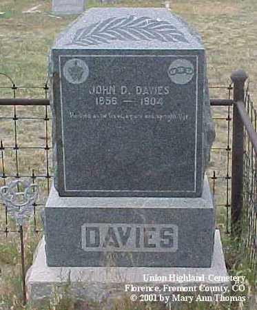 DAVIES, JOHN D. - Fremont County, Colorado | JOHN D. DAVIES - Colorado Gravestone Photos