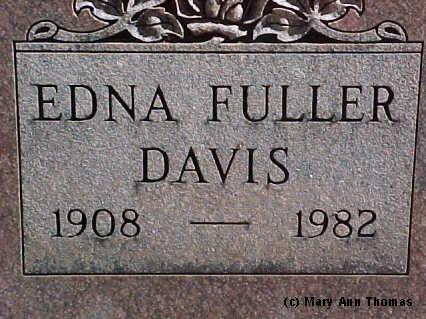 DAVIS, EDNA FULLER - Fremont County, Colorado | EDNA FULLER DAVIS - Colorado Gravestone Photos