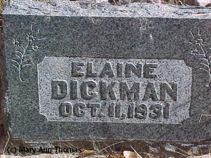 DICKMAN, ELAINE - Fremont County, Colorado | ELAINE DICKMAN - Colorado Gravestone Photos
