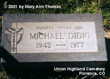 DIDIO, MICHAEL - Fremont County, Colorado | MICHAEL DIDIO - Colorado Gravestone Photos
