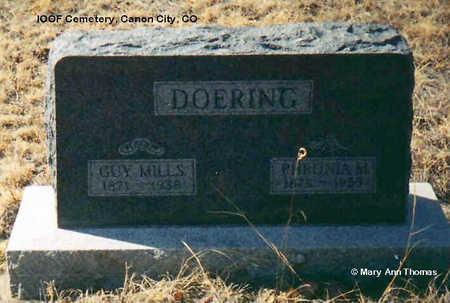 DOERING, GUY MILLS - Fremont County, Colorado | GUY MILLS DOERING - Colorado Gravestone Photos