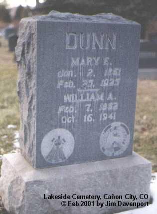 DUNN, WILLIAM A. - Fremont County, Colorado | WILLIAM A. DUNN - Colorado Gravestone Photos
