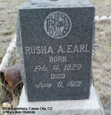 EARL, RUSHA A. - Fremont County, Colorado | RUSHA A. EARL - Colorado Gravestone Photos