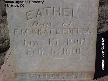 EDELEN, EATHEL - Fremont County, Colorado | EATHEL EDELEN - Colorado Gravestone Photos