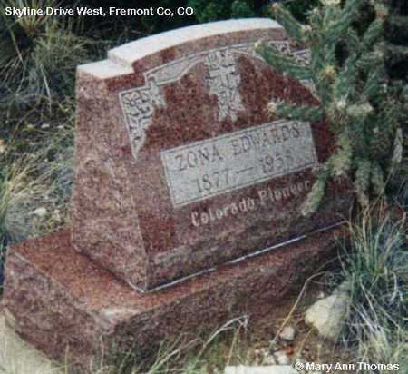EDWARDS, ZONA - Fremont County, Colorado | ZONA EDWARDS - Colorado Gravestone Photos