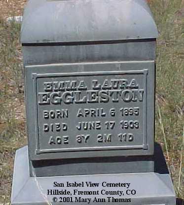 EGGLESTON, EMMA LAURA - Fremont County, Colorado | EMMA LAURA EGGLESTON - Colorado Gravestone Photos