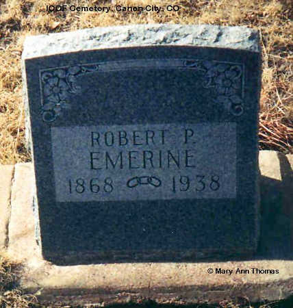 EMERINE, ROBERT P. - Fremont County, Colorado | ROBERT P. EMERINE - Colorado Gravestone Photos