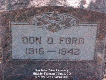 FORD, DON D. - Fremont County, Colorado | DON D. FORD - Colorado Gravestone Photos