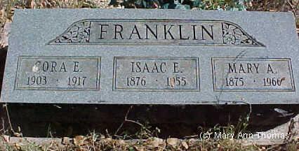 FRANKLIN, ISAAC E. - Fremont County, Colorado | ISAAC E. FRANKLIN - Colorado Gravestone Photos