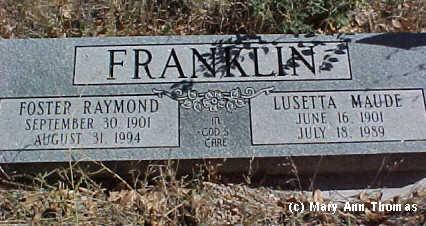 FRANKLIN, LUSETTA MAUDE - Fremont County, Colorado   LUSETTA MAUDE FRANKLIN - Colorado Gravestone Photos