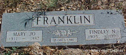 FRANKLIN, FINDLEY N. - Fremont County, Colorado | FINDLEY N. FRANKLIN - Colorado Gravestone Photos