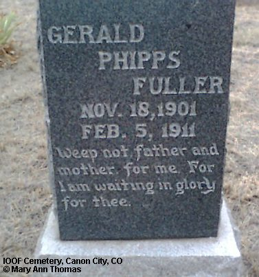 FULLER, GERALD PHIPPS - Fremont County, Colorado   GERALD PHIPPS FULLER - Colorado Gravestone Photos