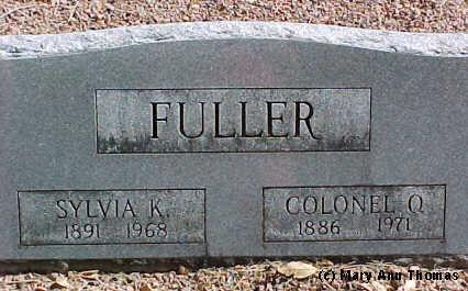 FULLER, COLONEL Q. - Fremont County, Colorado | COLONEL Q. FULLER - Colorado Gravestone Photos