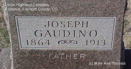 GAUDINO, JOSEPH - Fremont County, Colorado   JOSEPH GAUDINO - Colorado Gravestone Photos