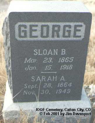 GEORGE, SARAH A. - Fremont County, Colorado | SARAH A. GEORGE - Colorado Gravestone Photos