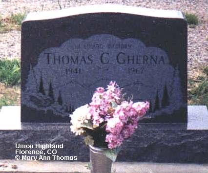 GHERNA, THOMAS C. - Fremont County, Colorado | THOMAS C. GHERNA - Colorado Gravestone Photos