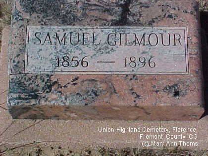 GILMOUR, SAMUEL - Fremont County, Colorado | SAMUEL GILMOUR - Colorado Gravestone Photos