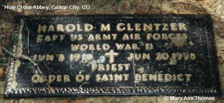 GLENTZER, HAROLD M. - Fremont County, Colorado | HAROLD M. GLENTZER - Colorado Gravestone Photos