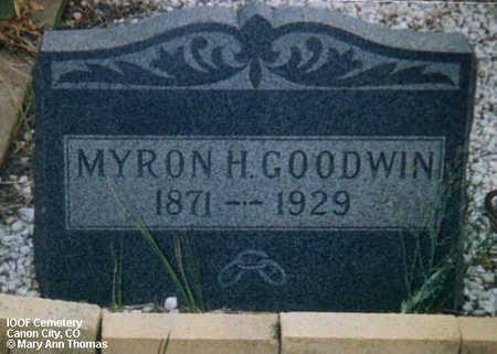 GOODWIN, MYRON H. - Fremont County, Colorado | MYRON H. GOODWIN - Colorado Gravestone Photos