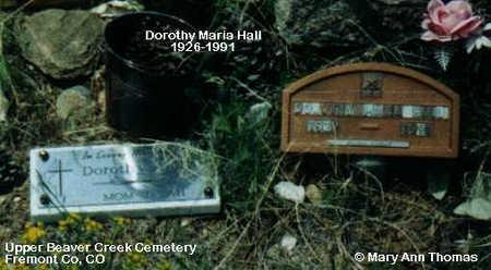 HALL, DOROTHY MARIA - Fremont County, Colorado | DOROTHY MARIA HALL - Colorado Gravestone Photos