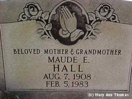 HALL, MAUDE E. - Fremont County, Colorado | MAUDE E. HALL - Colorado Gravestone Photos