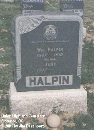 HALPIN, WM. - Fremont County, Colorado | WM. HALPIN - Colorado Gravestone Photos