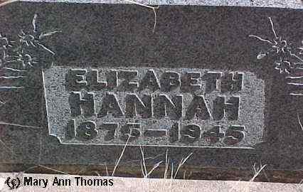 HANNAH, ELIZABETH - Fremont County, Colorado | ELIZABETH HANNAH - Colorado Gravestone Photos