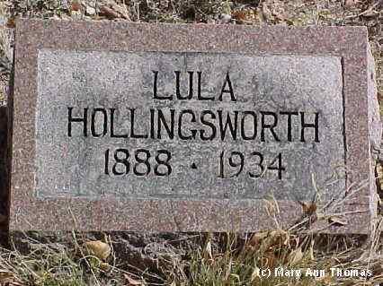 HOLLINGSWORTH, LULA - Fremont County, Colorado | LULA HOLLINGSWORTH - Colorado Gravestone Photos