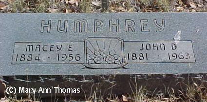 HUMPHREY, MACY E. - Fremont County, Colorado | MACY E. HUMPHREY - Colorado Gravestone Photos
