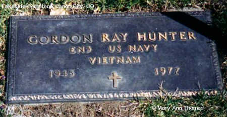 HUNTER, GORDON RAY - Fremont County, Colorado   GORDON RAY HUNTER - Colorado Gravestone Photos