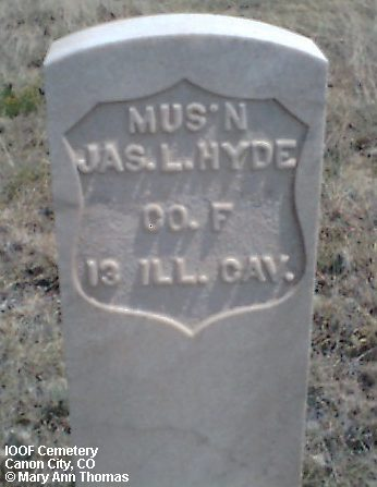 HYDE, JAS. L. - Fremont County, Colorado | JAS. L. HYDE - Colorado Gravestone Photos