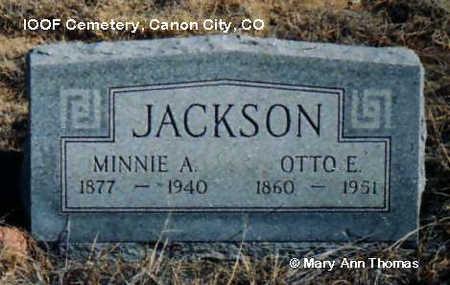 JACKSON, MINNIE A. - Fremont County, Colorado | MINNIE A. JACKSON - Colorado Gravestone Photos