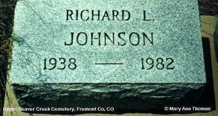 JOHNSON, RICHARD L. - Fremont County, Colorado | RICHARD L. JOHNSON - Colorado Gravestone Photos
