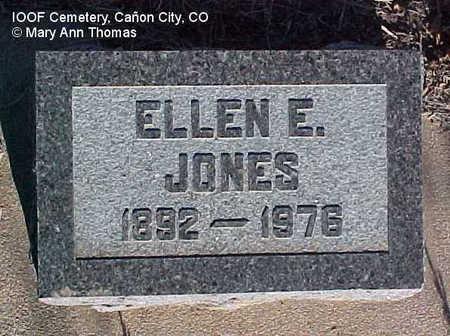 JONES, ELLEN E. - Fremont County, Colorado | ELLEN E. JONES - Colorado Gravestone Photos